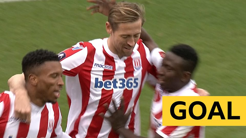 Substitute Crouch volleys Stoke level against Shrews