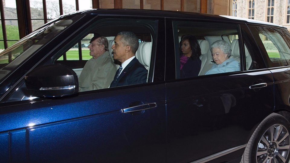 Prince Philip was 94 when he drove the Obamas and his wife, the Queen