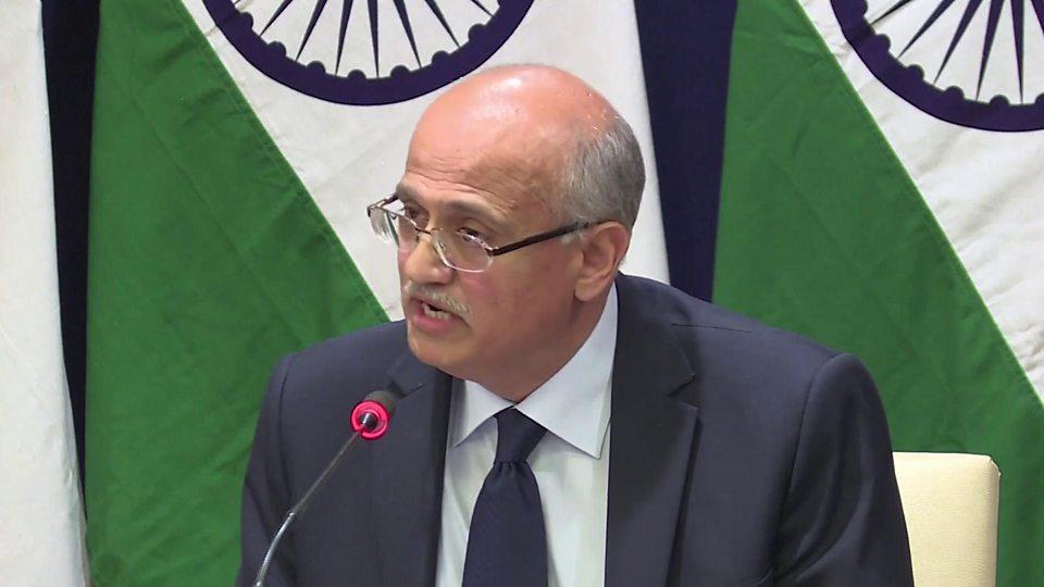 India's foreign secretary said the air strikes hit a militant training camp