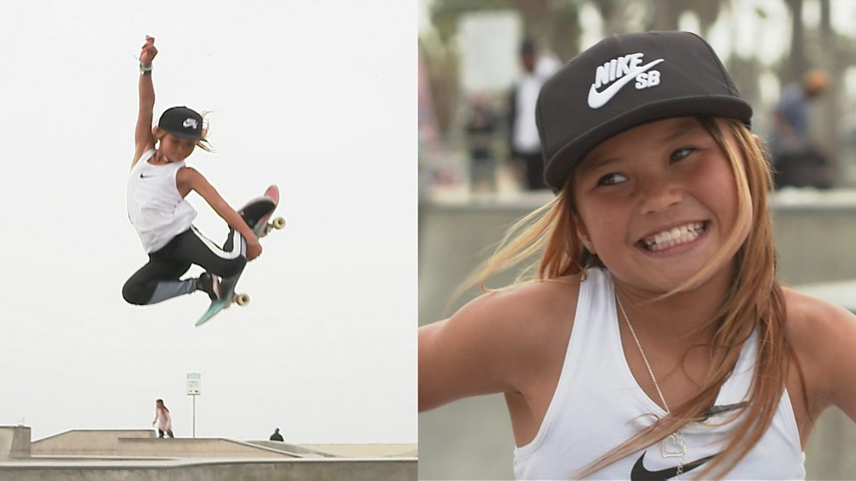 Sky Brown: The 10-year-old British skateboarder aiming to
