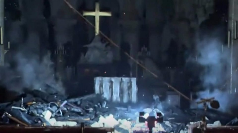 A look inside fire-ravaged Notre-Dame cathedral