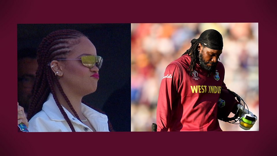 Sri Lanka v West Indies: Rihanna watches on as Gayle is out after 'one big swing too many'