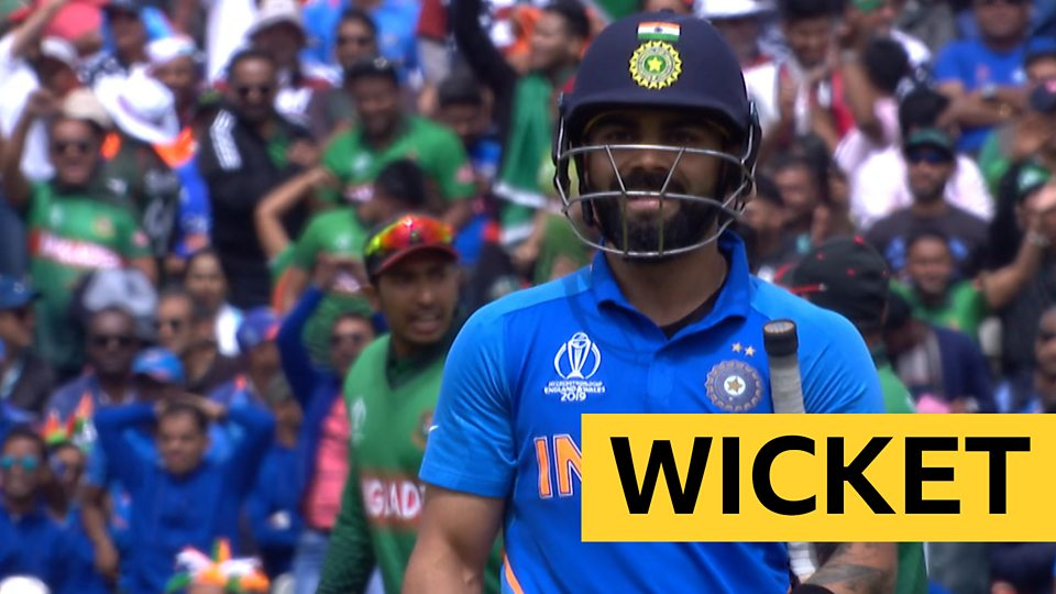 'India fans can't believe it!' - Kohli caught on boundary
