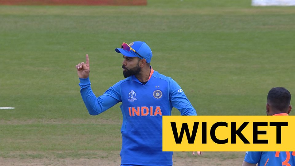 Soumya chips the ball straight to Kohli in the covers as India get a second