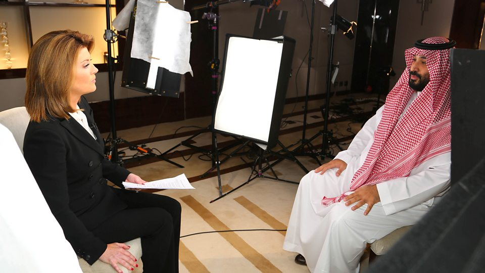 "Mohammed bin Salman is asked: ""Did you order the murder of Jamal Khashoggi?"""