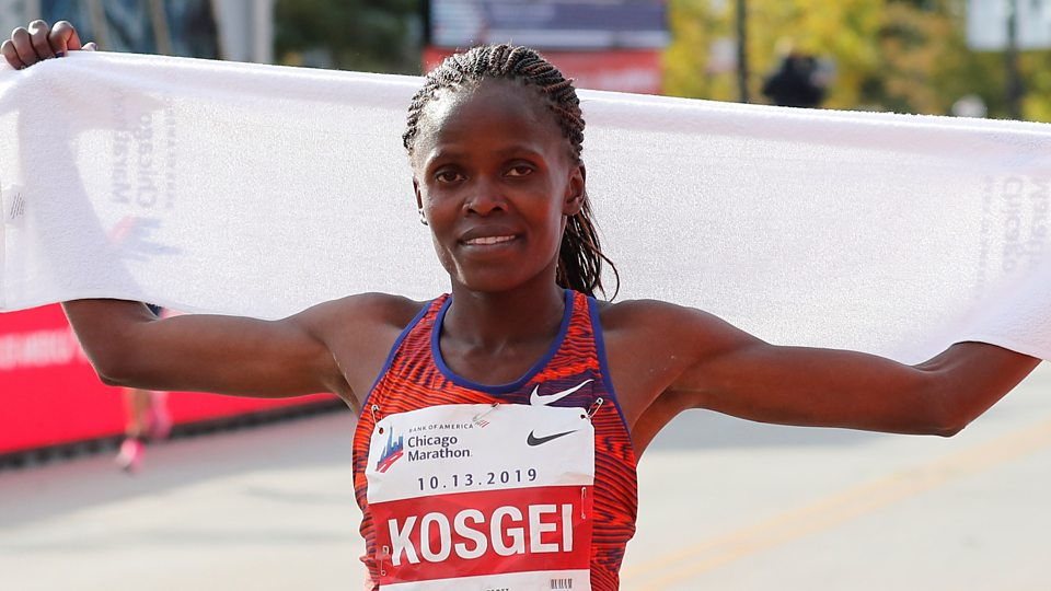 Image result for pic of Brigid Kosgei breaks Paula Radcliffe's women's marathon record