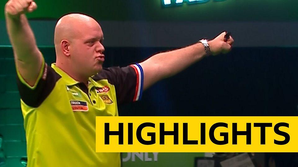 Champions League Of Darts Michael Van Gerwen Beats Peter