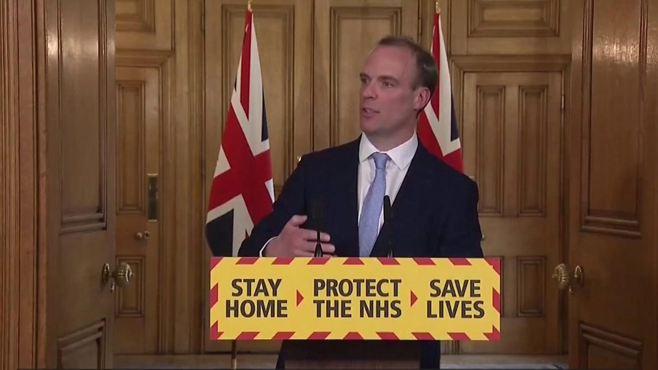 """Dominic Raab: Boris Johnson """"still remains in charge of the government"""""""
