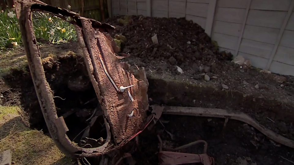 Coronavirus: Man finds old car buried in garden during lockdown ...