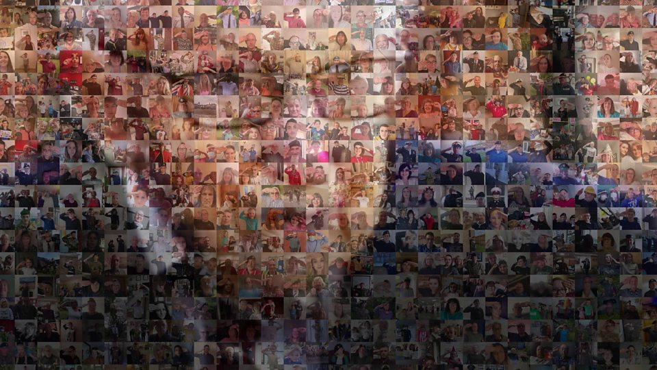 Captain Tom Moore: Nation creates mosaic birthday salute