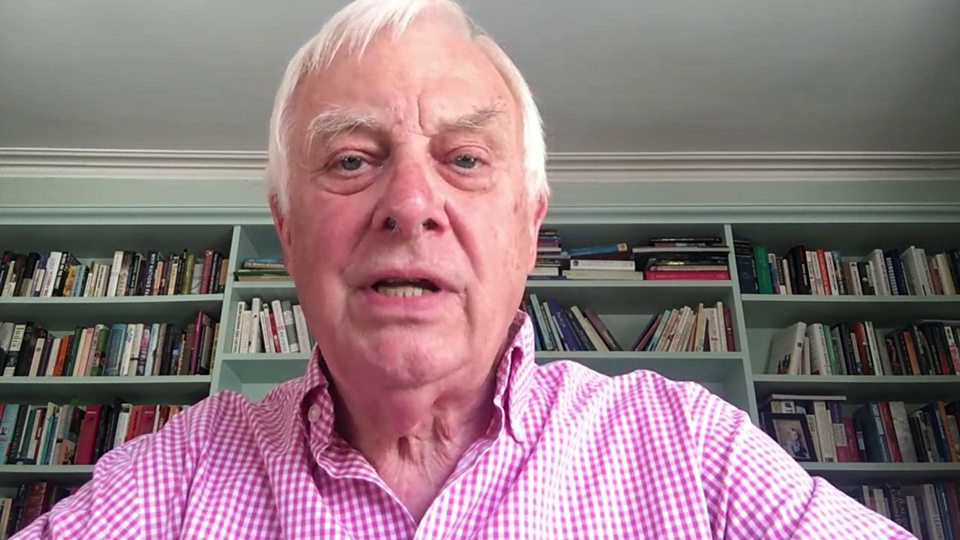"Former Hong Kong governor Chris Patten: ""UK should tell China this is outrageous"""