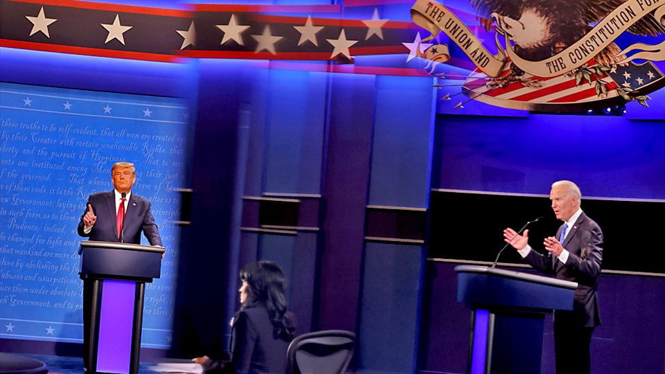 Presidential debate: Trump and Biden clash on Covid response