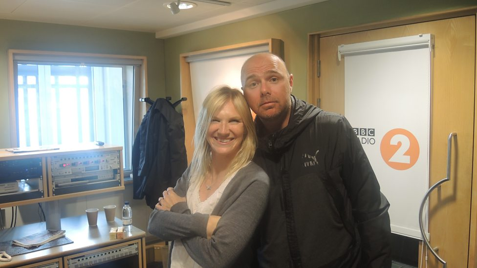 Suzanne Whiston with her partner Karl Pilkington
