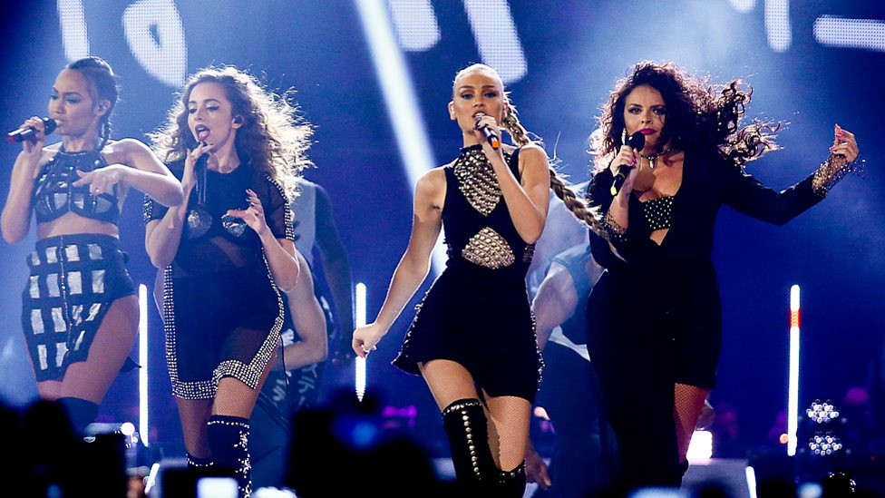 Little Mix dazzle on and off stage at the BBC Music Awards 2015