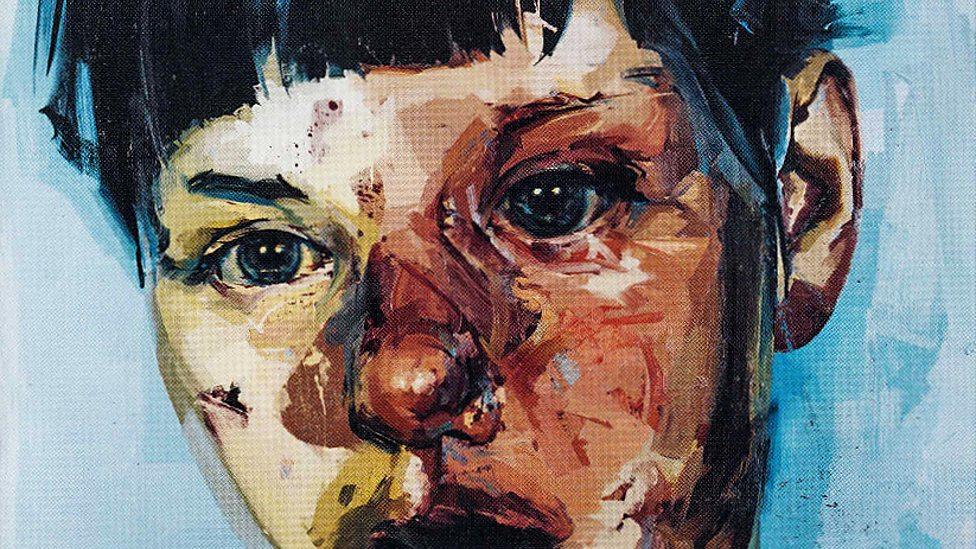 1950s Art Raised Painting