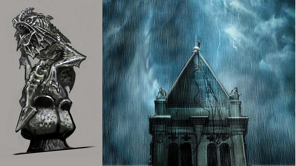Concept Art Gargoyle And Bell Tower