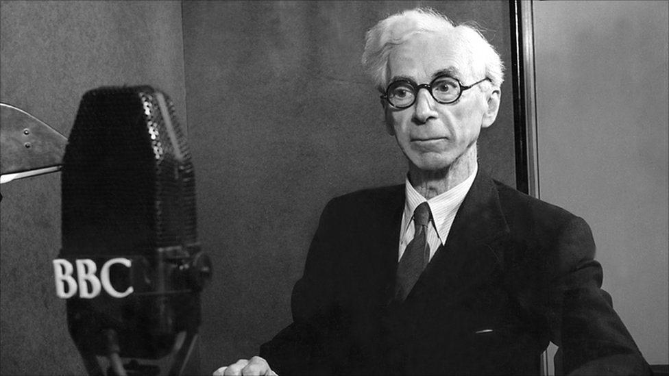 Russell bei den Reith-Lectures (Bild auf BBC)