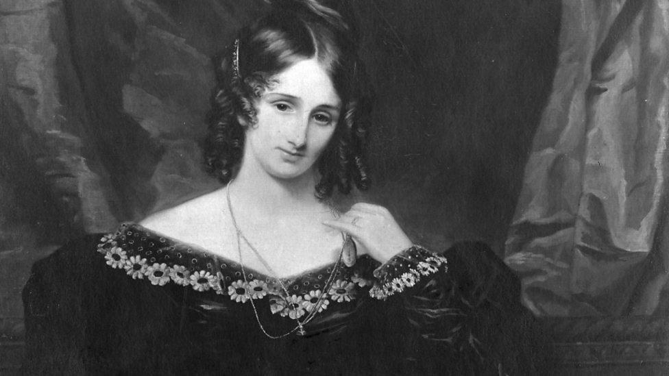 Portrait of Mary Shelley at http://www.bbc.co.uk/programmes/p00zh50v/p00zl84z