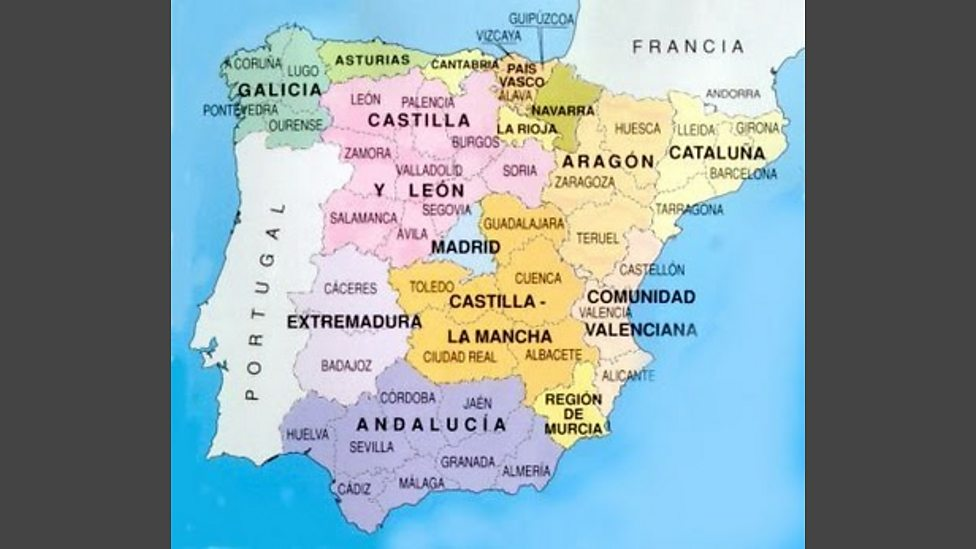 BBC Map of Spain Images from the Invention of Spain