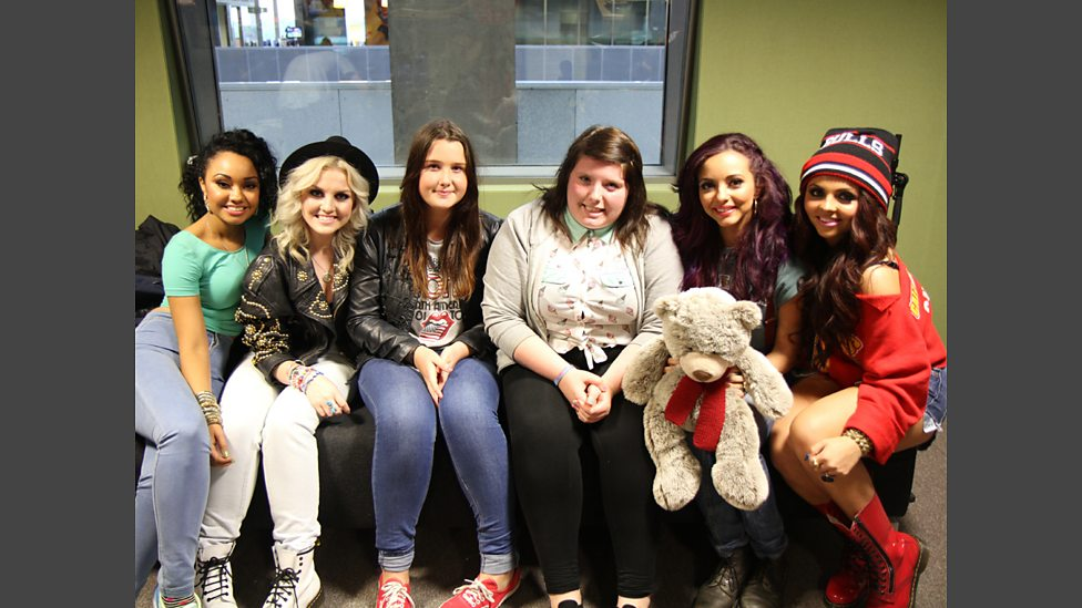 Bbc radio 1 little mix join greg in glasgow greg james greg in little mix fans kerry anne and caitlin get to meet the girls m4hsunfo