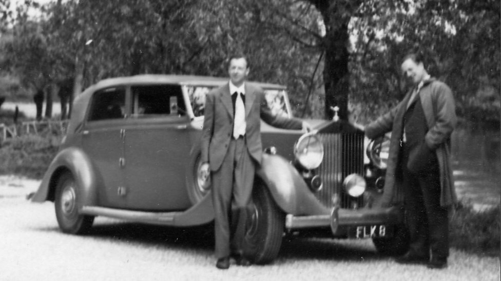 bbc radio 3 - benjamin britten and peter pears with a rolls royce