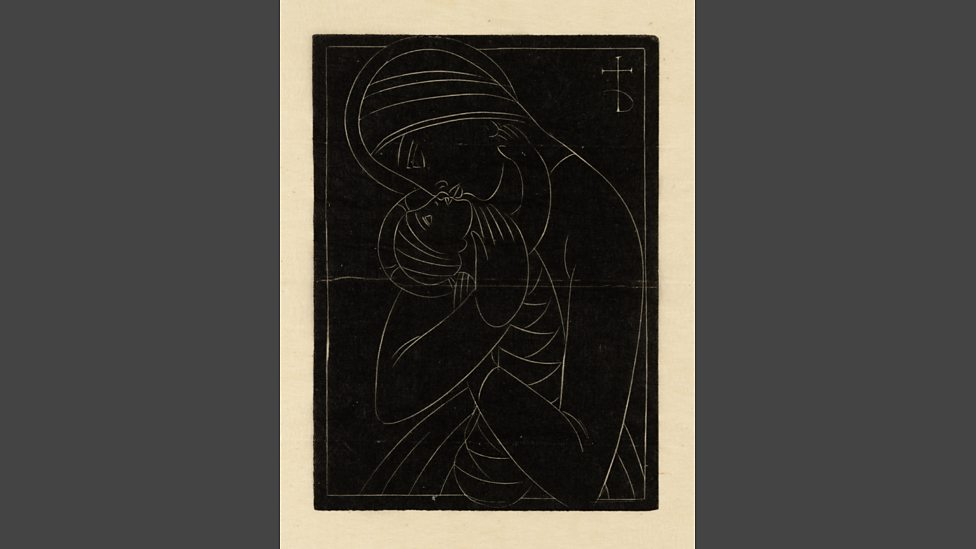 BBC Radio 3 - Eric Gill: Christmas Card: Madonna & Child (1922) - In ...
