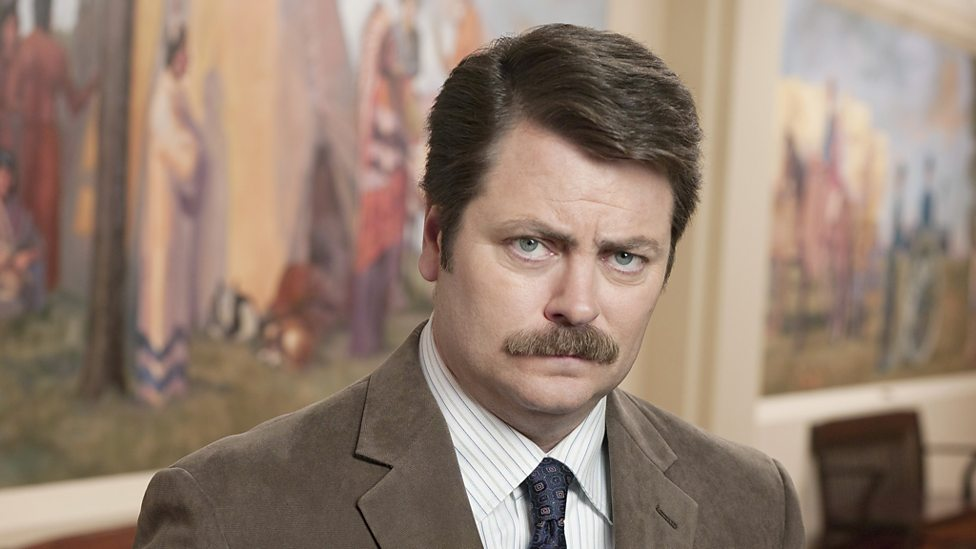 Bbc Four Ron Swanson Played By Nick Offerman Parks And