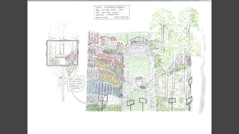 Garden Design Birds Eye View bbc - john kane's garden - a bird's eye view - the one show garden