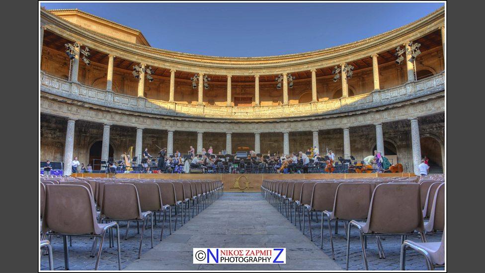 The Auditorium Of The Patio De Carlos V, Alhambra