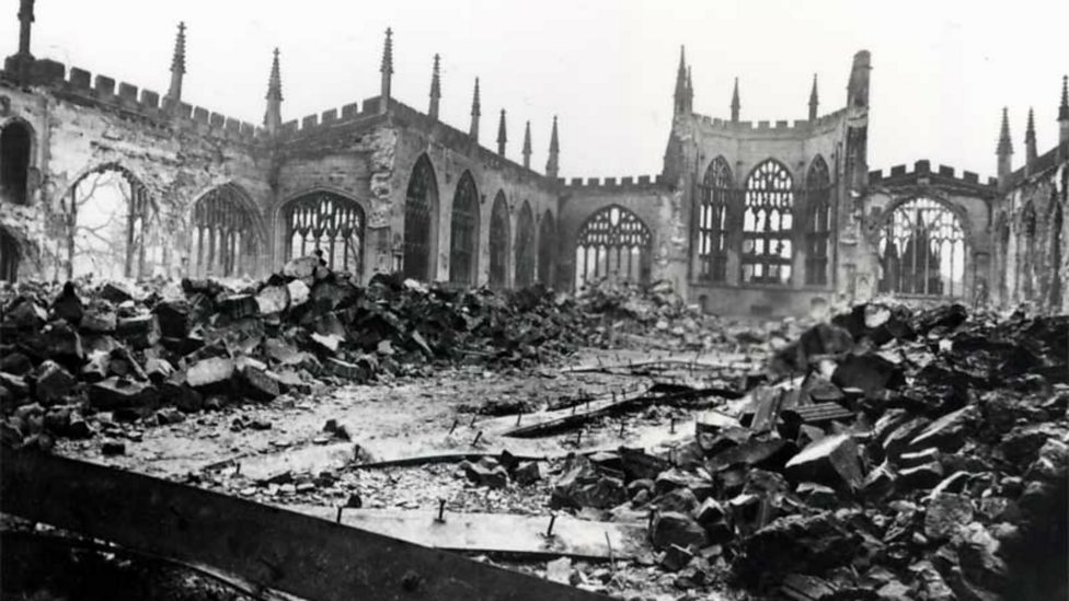 Image result for cathedral ruins coventry