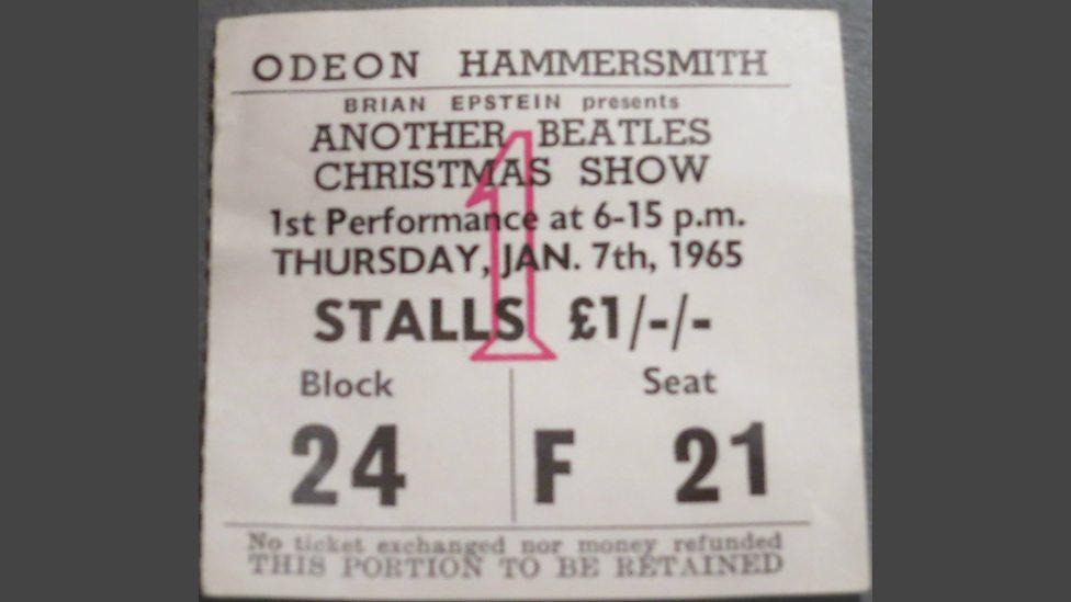 PHOP Gillies Beatles ticket