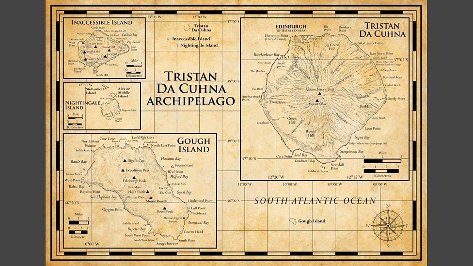 BBC Four Tristan Da Cunha Britains Treasure Islands The Maps - Tristan da cunha map