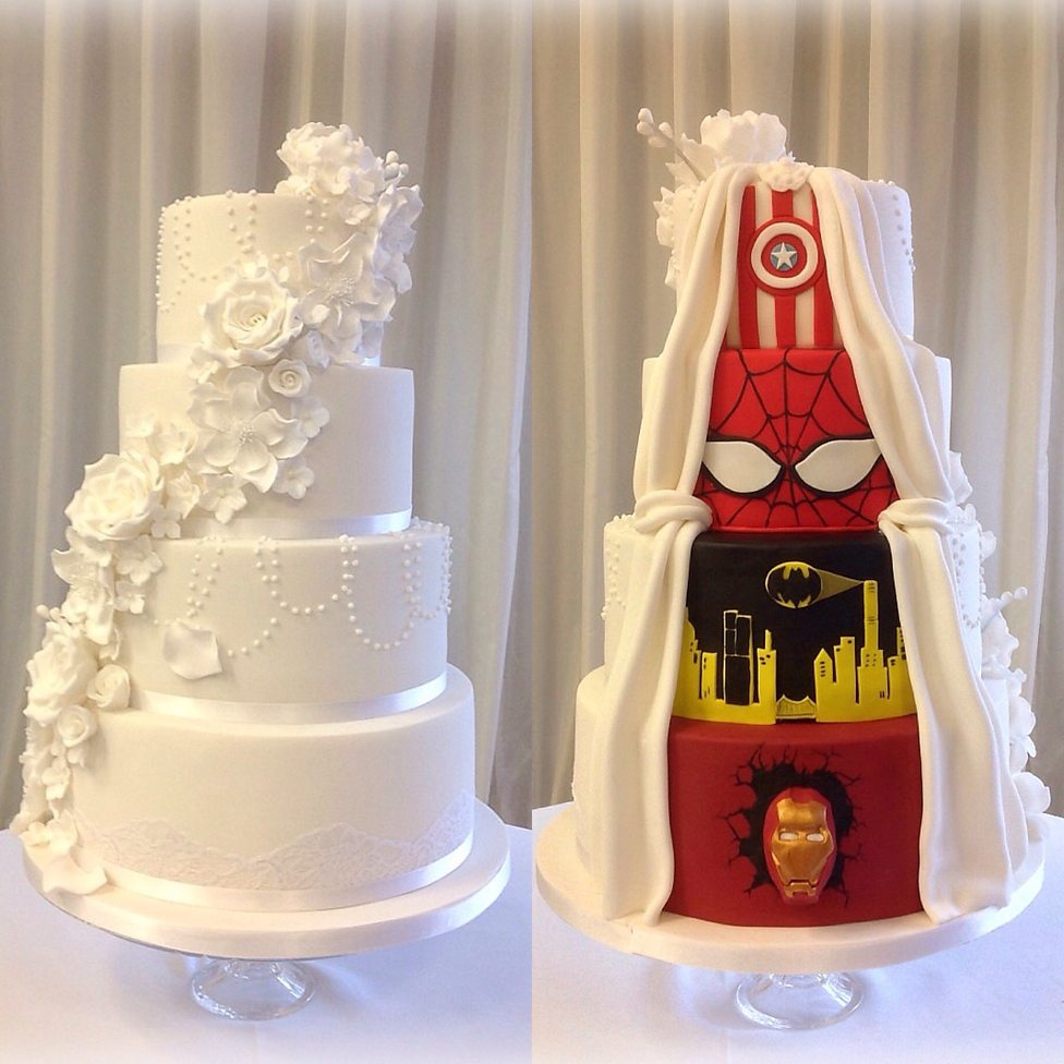 Bbc arts get creative wedding cake is a superhero in disguise junglespirit