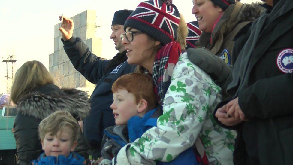 'Bye Daddy!' Tim Peake's kids at launch