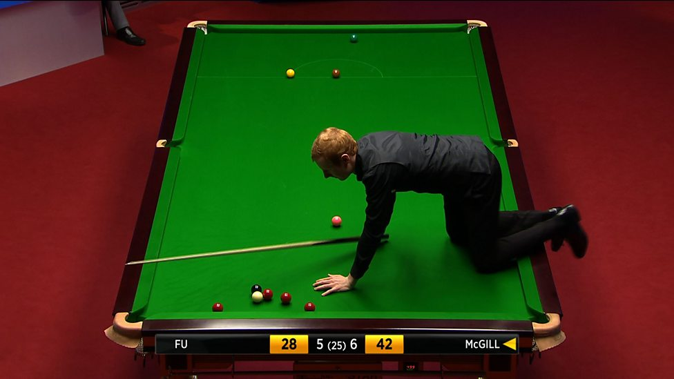 World Snooker Championship Anthony Mcgill Climbs On Table