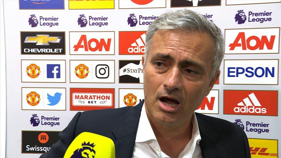 Referee made two big mistakes - Mourinho