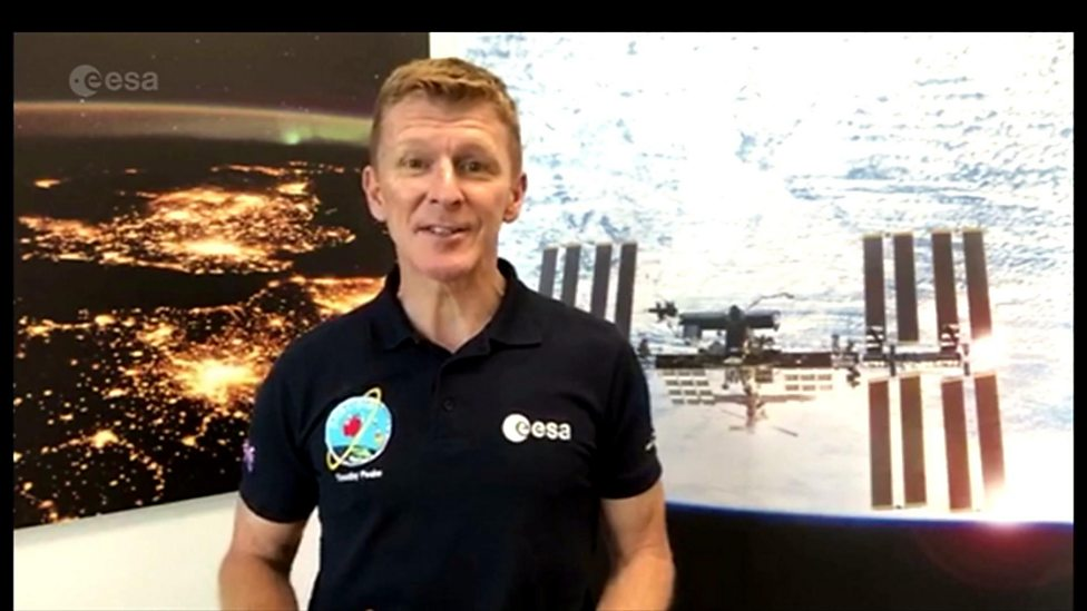 Tim Peake's space craft comes to London