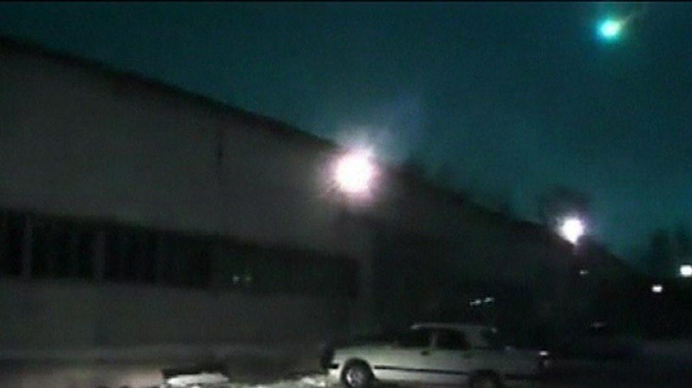 Meteor lights up Siberian sky