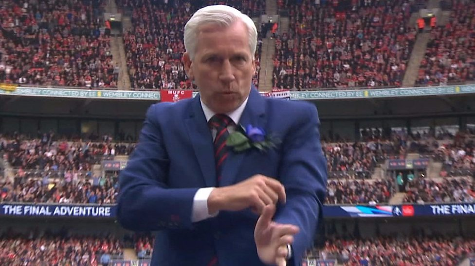 Image result for alan pardew dance fa cup final