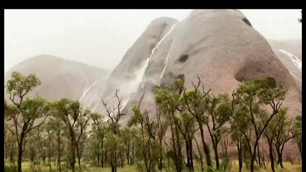 Australian national park turned into waterfalls