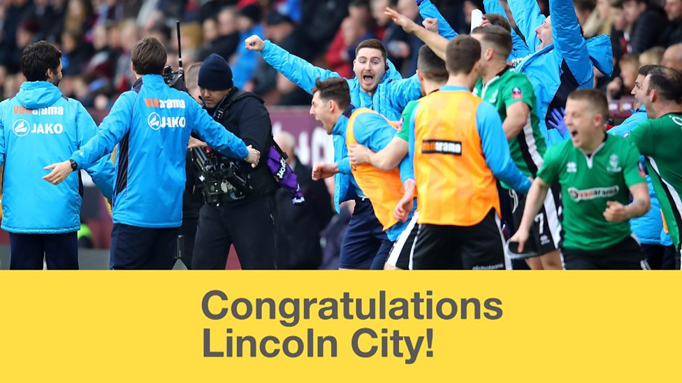 Lincoln City How Imps Became Fa Cup Legends Bbc Sport
