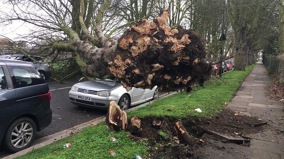 Storm Doris hits Britain
