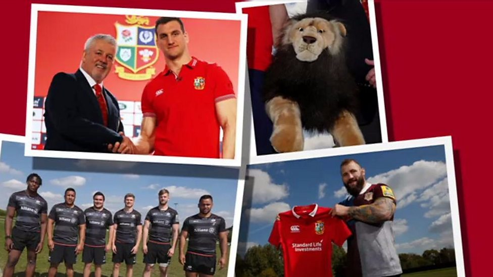 Who is in the British and Irish Lions squad?