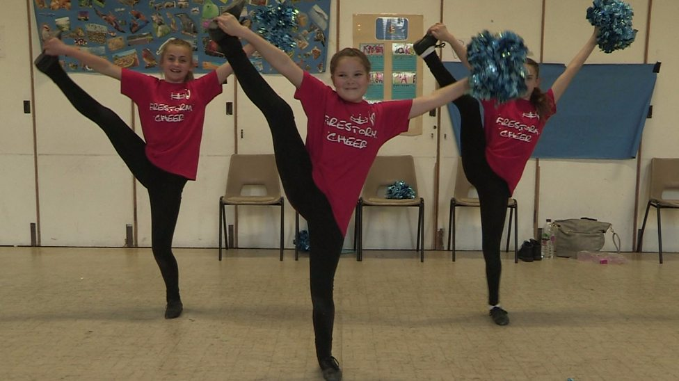 Meet the UK's young cheerleaders