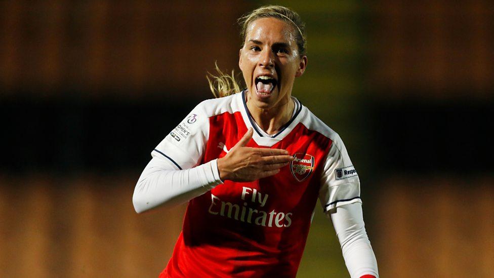 3d145f672 Women s Super League One highlights  Arsenal 4-4 Liverpool - BBC Sport