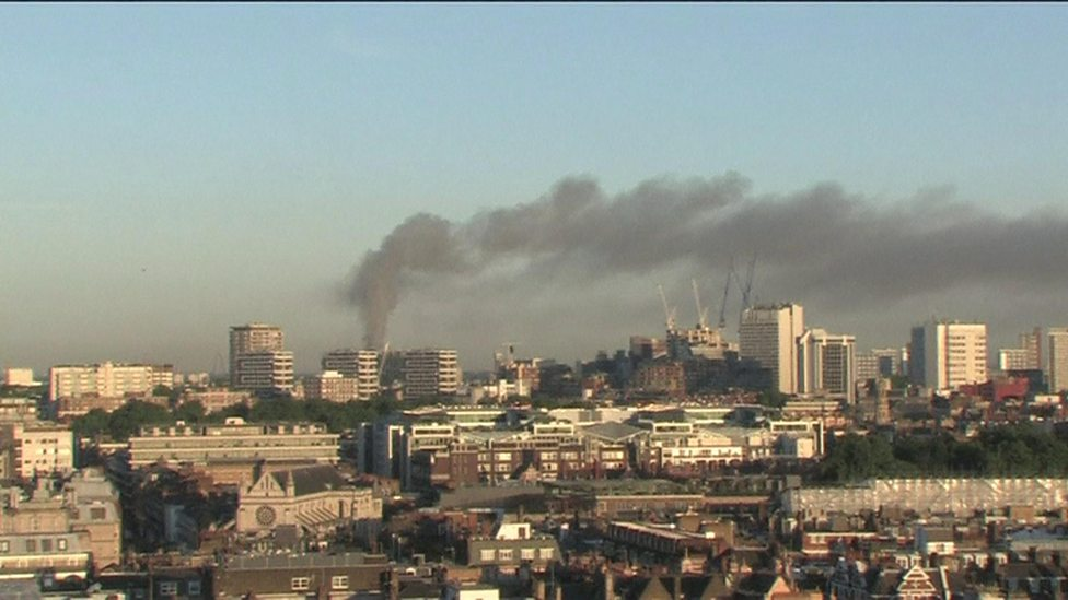 Big fire breaks out in London tower block