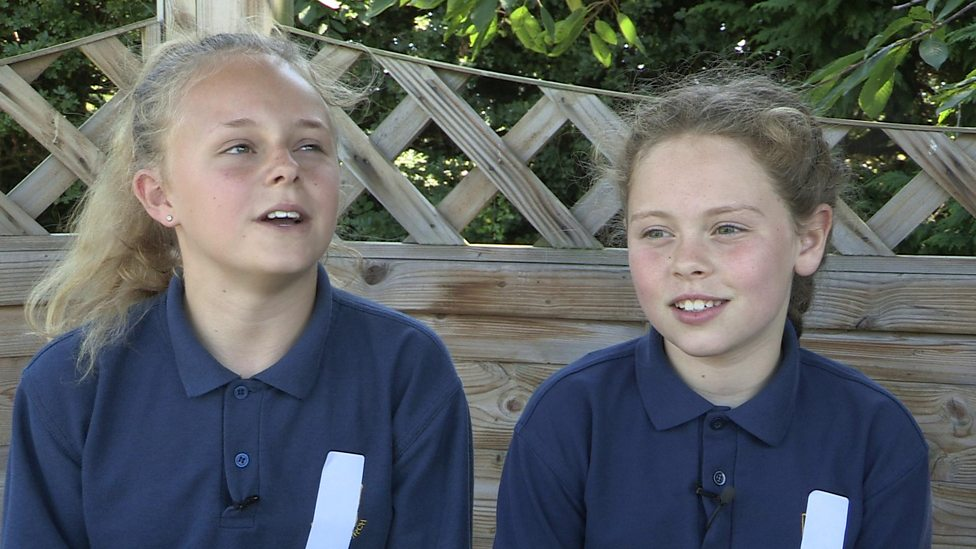 The kids speaking Welsh at school
