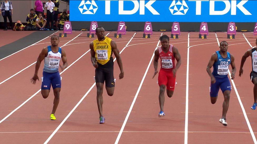 World Athletics Championships 2017: Usain Bolt finishes ...
