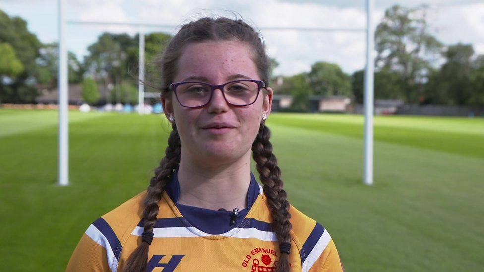 Young rugby player angry at women's contract cuts