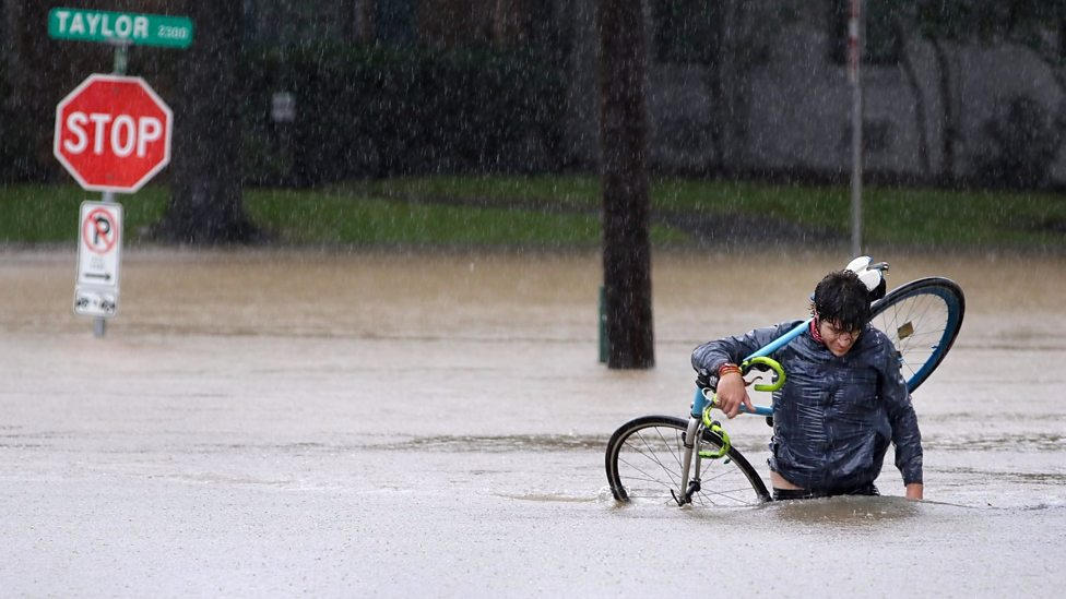 Floodwaters keep rising in Houston